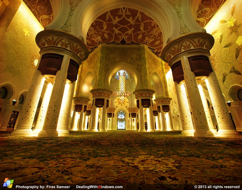 Sheikh Zayed's Mosque - inside
