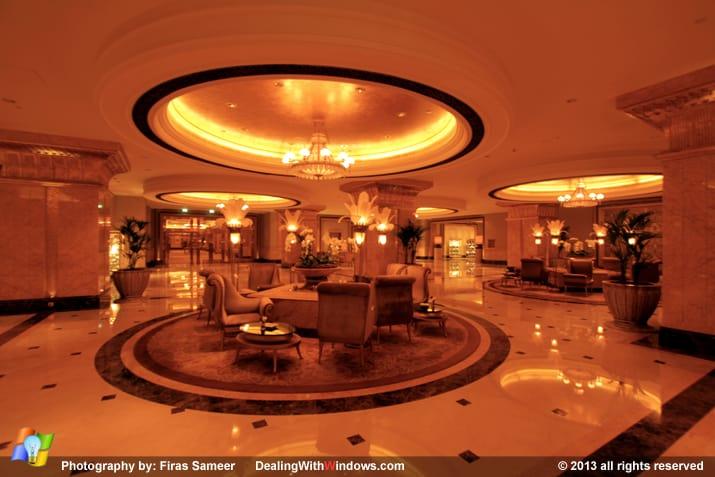 Emirates Palace hotel - coridor area