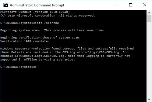 Windows 10 Outlook Sending Error-sfc
